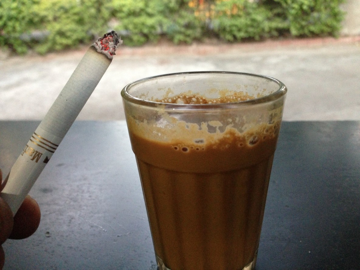 The combination of Tea and cigarettes
